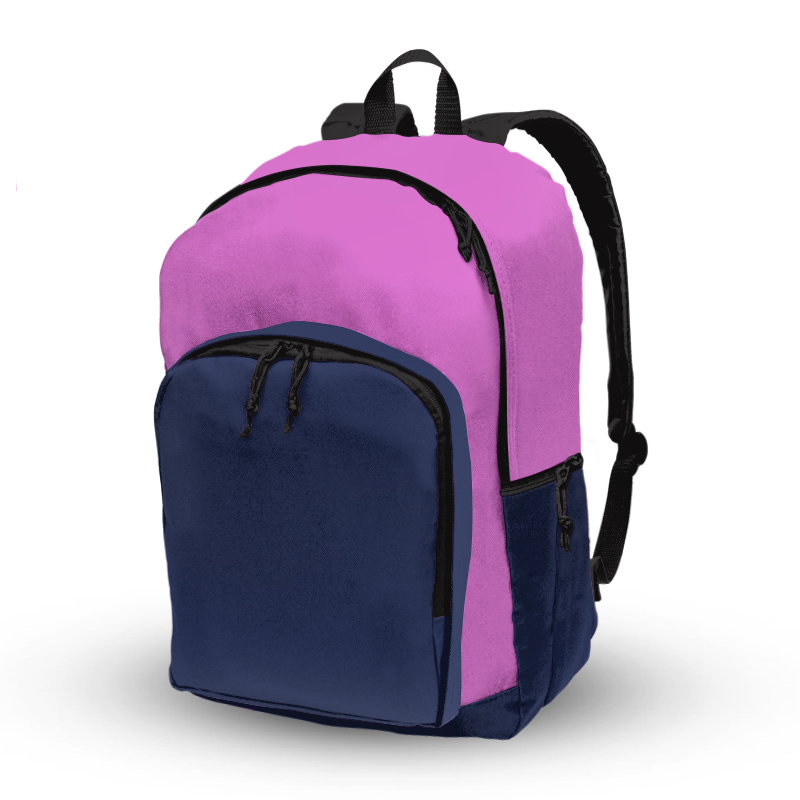 Basic Backpack_Pink and Royal
