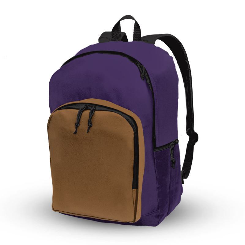 Basic Backpack_Purple and Tan