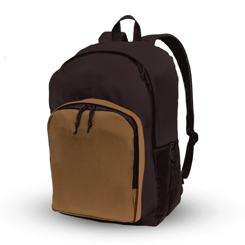 Basic Backpack_Tan and Dark Brown