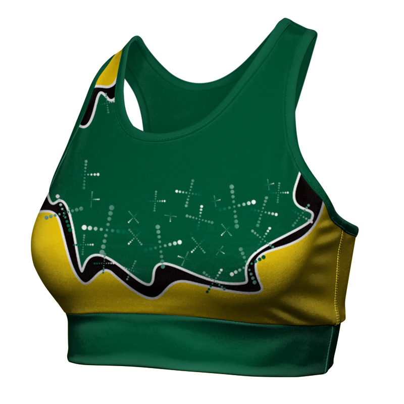 Ladies Custom Netball Racer Back Crop 017