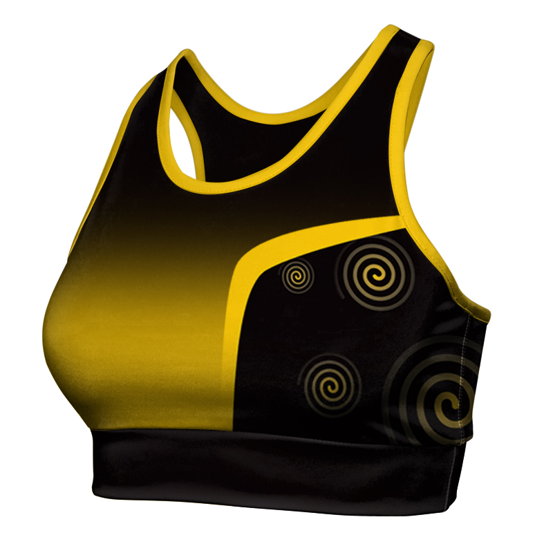 Ladies Custom Netball Racer Back Crop 024