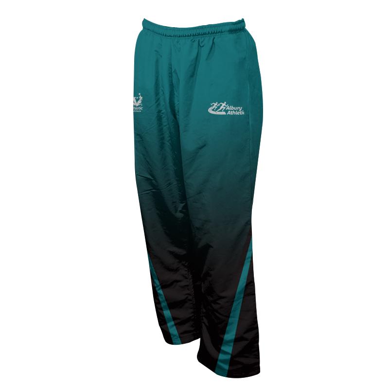 Unisex Custom Athletics Microfiber Track Pants with Zips 003