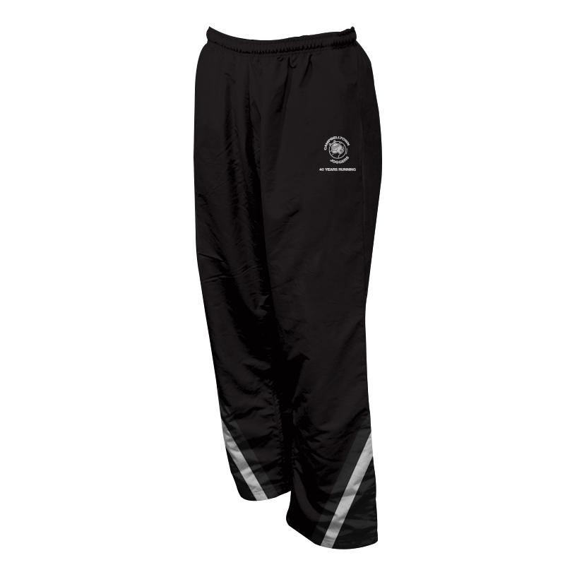 Unisex Custom Athletics Microfiber Track Pants with Zips 004