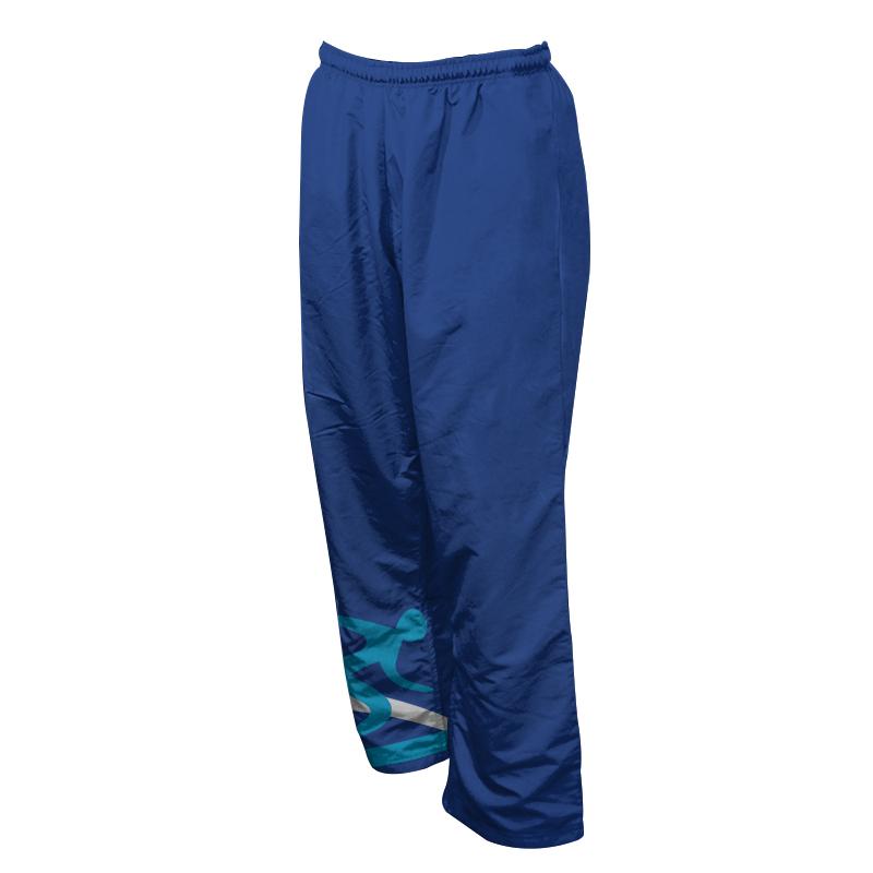 Unisex Custom Athletics Microfiber Track Pants with Zips 017