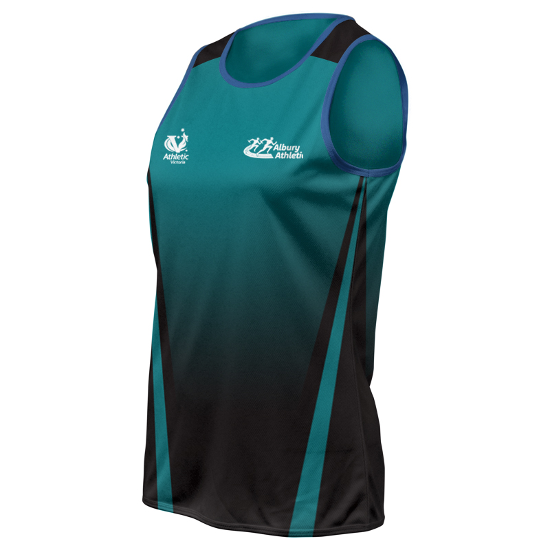 Ladies Custom Athletics Round Neck Singlet 003