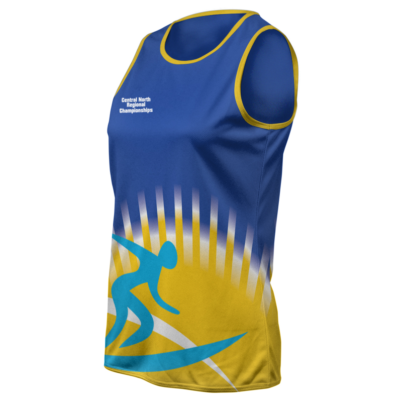 Ladies Custom Athletics Round Neck Singlet 017
