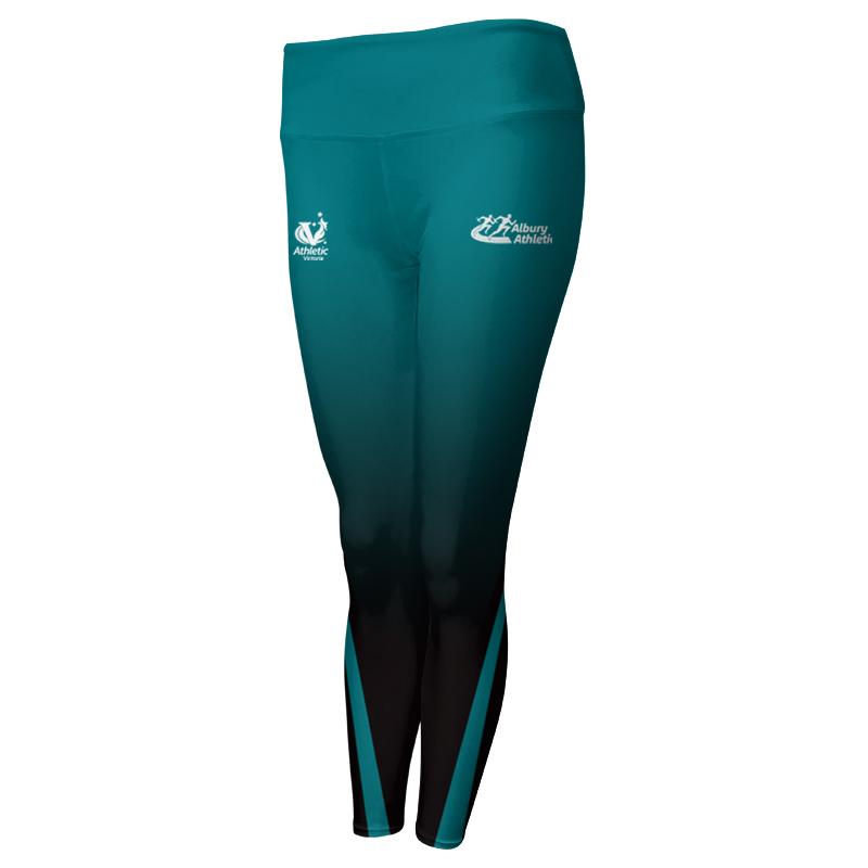 Ladies Custom Athletics Comfort Waist Full Length Tights 003