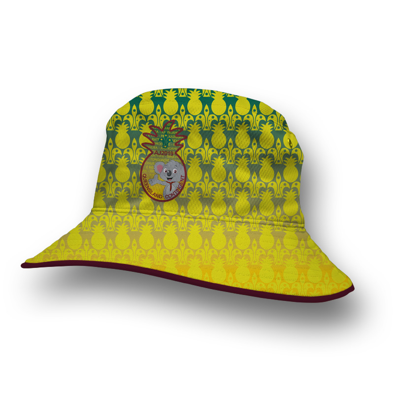 Custom Bucket Hat - Scouts QLD Contingent 2019
