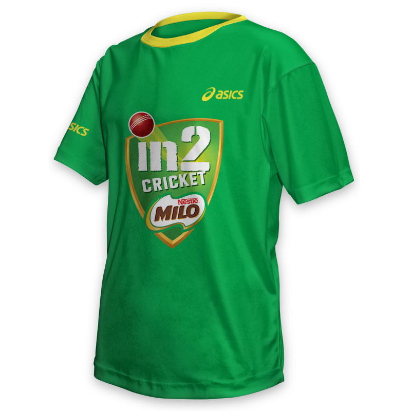 Kids Tee - Milo Cricket Green