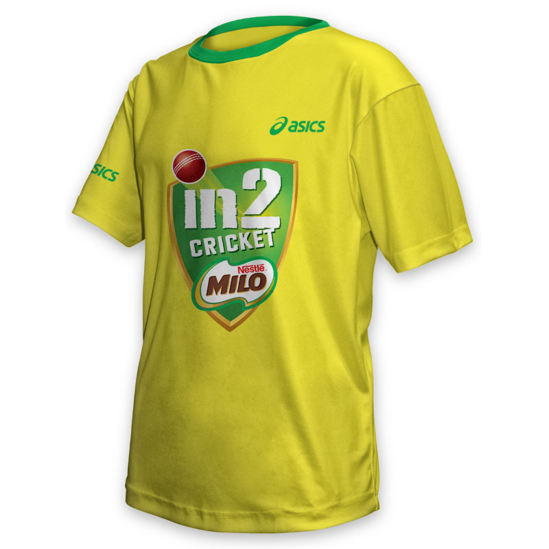 Kids Tee - Milo Cricket Yellow