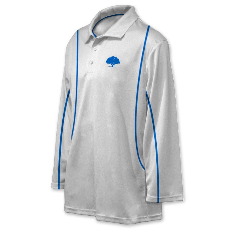 Unisex Custom Cricket Players Long Sleeve Polo 001