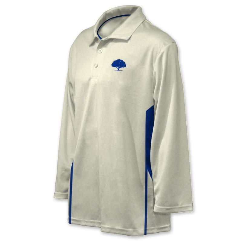Unisex Custom Cricket Players Long Sleeve Polo 002