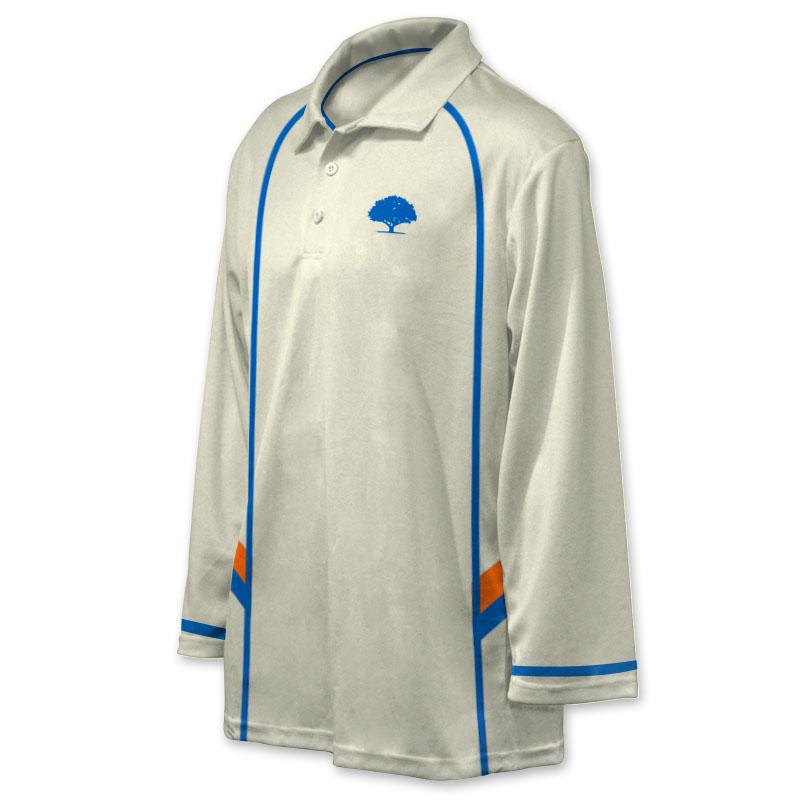 Unisex Custom Cricket Players Long Sleeve Polo 004