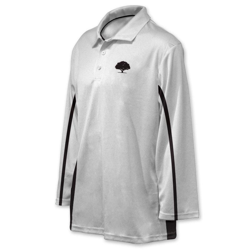 Unisex Custom Cricket Players Long Sleeve Polo 006