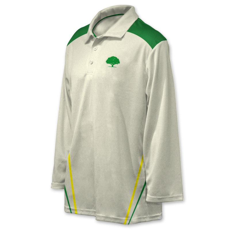 Unisex Custom Cricket Players Long Sleeve Polo 007