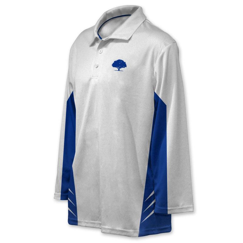 Unisex Custom Cricket Players Long Sleeve Polo 008