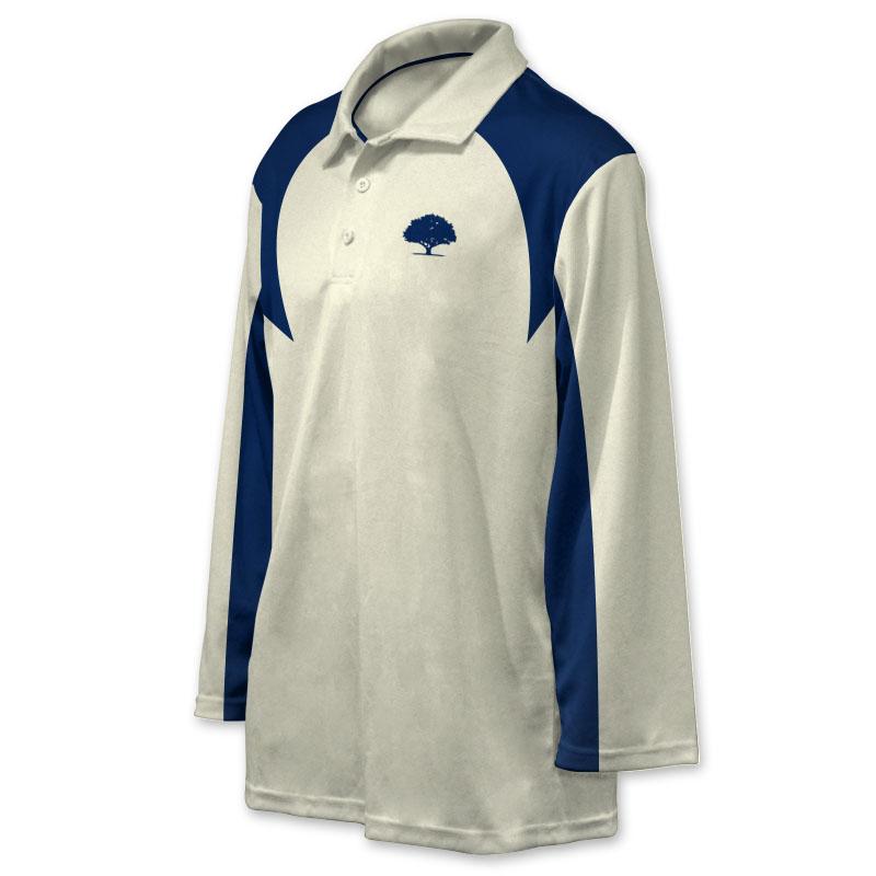 Unisex Custom Cricket Players Long Sleeve Polo 009