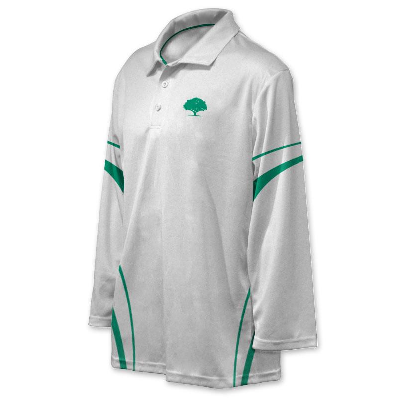 Unisex Custom Cricket Players Long Sleeve Polo 011